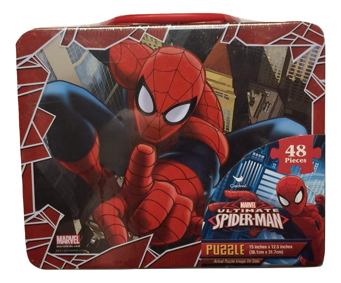 Spiderman 48 Piece Puzzle in Tin Lunchbox by Marvel