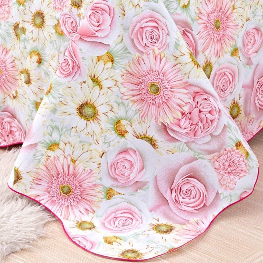 Gr/ö/ße 240 * 225Cm Sccarlettly Worth Having Rosa Blumenmuster Hochwertige Baumwollbettw/äsche Casual Chic Gr/ö/ßes Tuch 1.5 1.8 2.0M Einzelbett Doppelbett Einzelsatz Tagesdecke