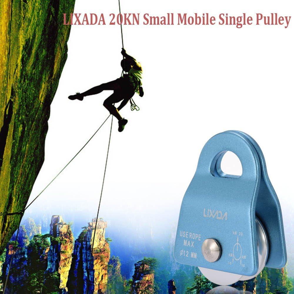 Lixada Polea Simple Móvil Swing Pequeña 20KN Escalada Rigging ...