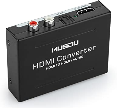 RCA L//R Extractor Converter Audio Splitter SPDIF 1080P HDMI to HDMI Optical