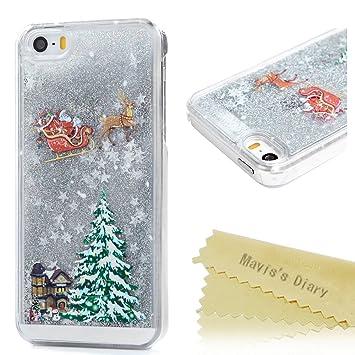 christmas iphone se caseiphone 5s 5 case maviss diary 3d bling flowing liquid design