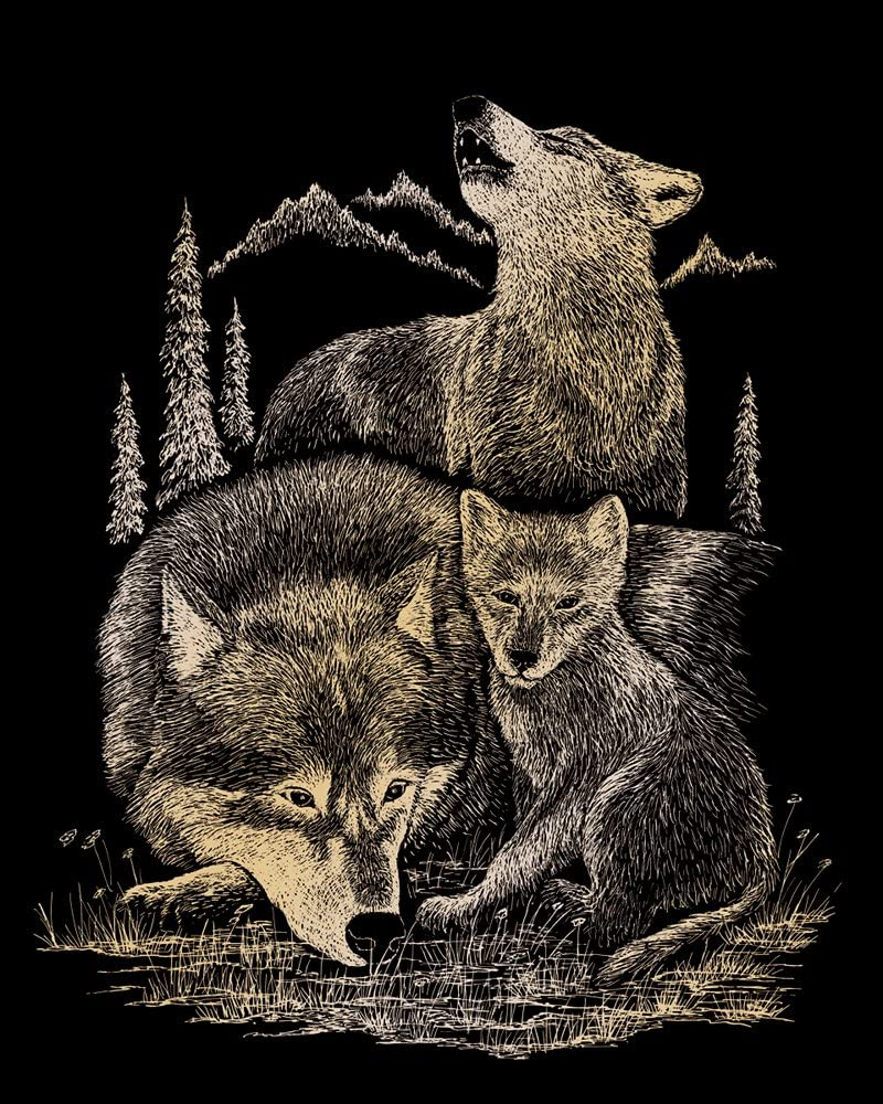 Royal and Langnickel Gold Engraving Art Deer