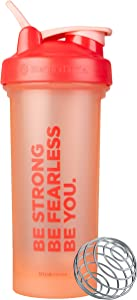 BlenderBottle Motivational Quote Classic V2 28-Ounce Shaker Bottle, Be Strong Special Edition