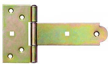 Kreuzgehänge T-Scharniere T-Bänder Gerollt 250 mm Halbschwere Schwarz