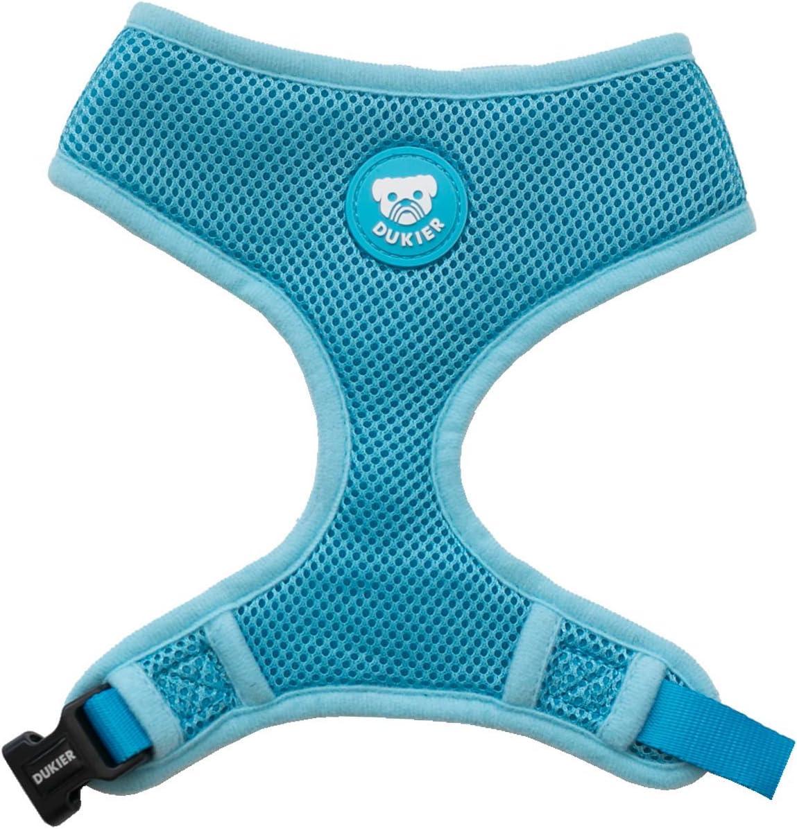 Harnais pour Chien en Maille Douce avec Gilet Respirant Confort Dukier Harnais Chien R/églable Pet Gilet Durable en Nylon Couleur Bleu Taille XS