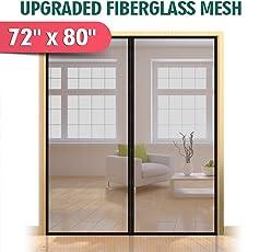 Good Upgraded 72u0026quot;x80u0026quot; Magnetic Screen Door For French Door, Durable  Fiberglass Double Door