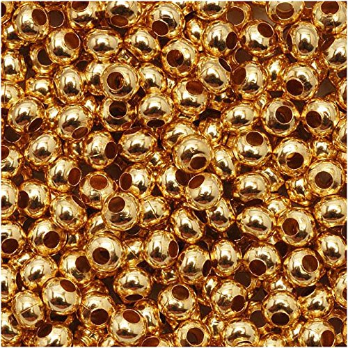 Genuine Metal Seed Beads 8/0 24KT Gold Plated 40 -