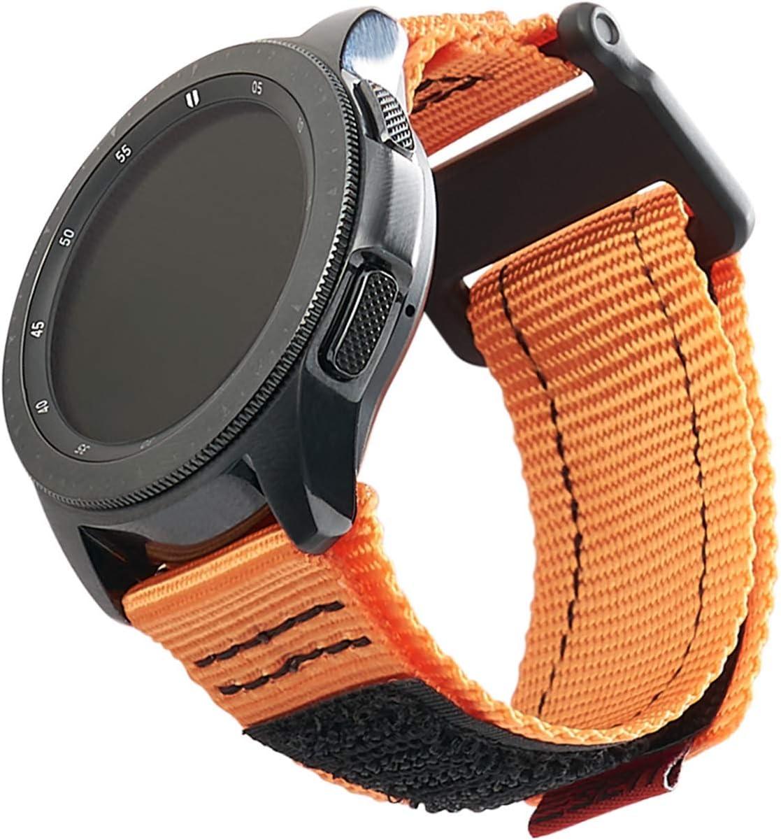 Urban Armor Gear Active Strap Armband Samsung Galaxy Watch3 45mm Watch 46 Mm Gear S3 Frontier Classic Watch Active 2 44 Mm Designed Für Samsung Smartwatches Ersatzband Aus Nylon Orange Elektronik
