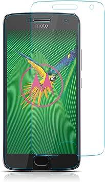 ELZO Protector Pantalla Motorola Moto G5 Plus [2 Piezas], Cristal ...