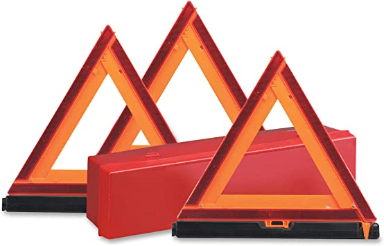 FREE SHIPPING SET OF 2 Large Reflective Vehicle Warning Triangle New