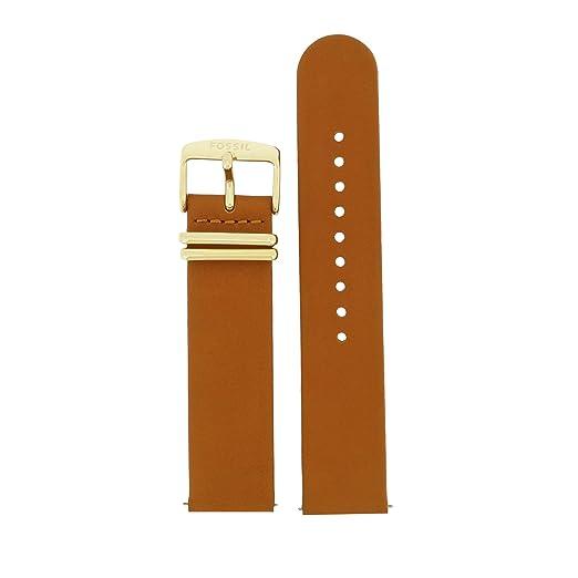 998c5c3485c2 El cambio de la correa pulsera Fossil LB-ES3750 correa de original 3750 ES  correa de cuero 20 mm Marrón  Amazon.es  Relojes