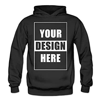 Custom DIY Hoodie - Design Your Own - Add Image and Text Personalized  Women s Hooded Sweatshirts 94f856b273