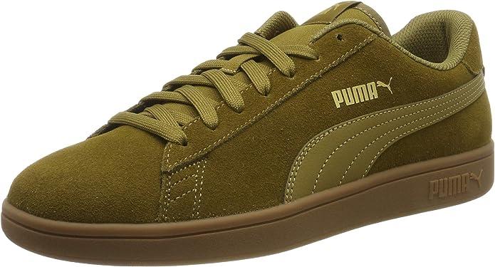 Puma Smash V2 Sneakers Unisex Damen Herren Moosgrün/Gummi