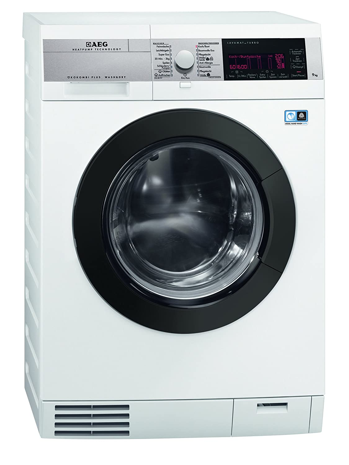 AEG L99695HWD - Lavadora-secadora (Front-load, Independiente, Color blanco, 6 kg, 1600 RPM, A)