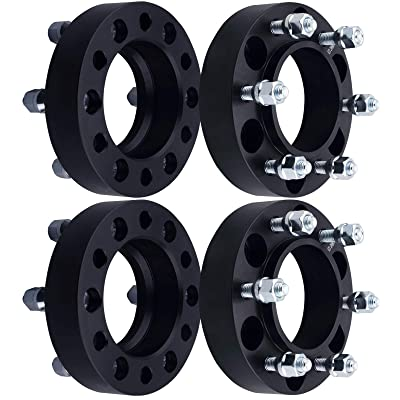 "DCVAMOUS 6 Lug Black Hubcentric Wheel Spacers 6x5.5 with 12x1.5 Studs for 2001-2020 Toyota Tacoma,1996-2020 Toyota 4Runner,2000-2006 Tundra,2007-2014 FJ Cruiser,2001-2007 Sequoia(4PC, 1.25"" Thick): Industrial & Scientific"