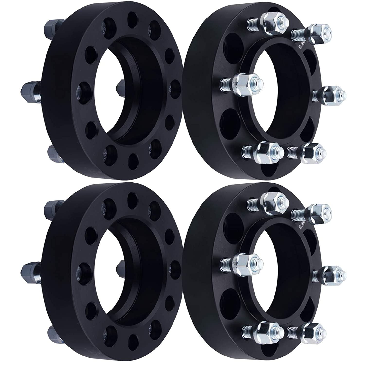 DCVAMOUS 6 Lug Black Hubcentric Wheel Spacers 6x5.5 with 12x1.5 Studs for 2001-2018 Toyota Tacoma,1996-2018 Toyota 4Runner,2000-2006 Tundra,2007-2014 FJ Cruiser,2001-2007 Sequoia(4PC, 1.25' Thick) 1.25 Thick) 1001-001004-3141