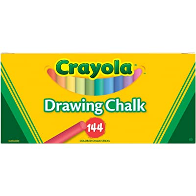 Crayola 510400 Colored Drawing Chalk (510400): Toys & Games