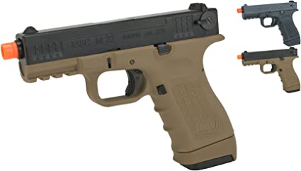 WE Tech 4.3 S-Type Tan 1911 Airsoft Gas Blowback Training Pistol /& Two Mags