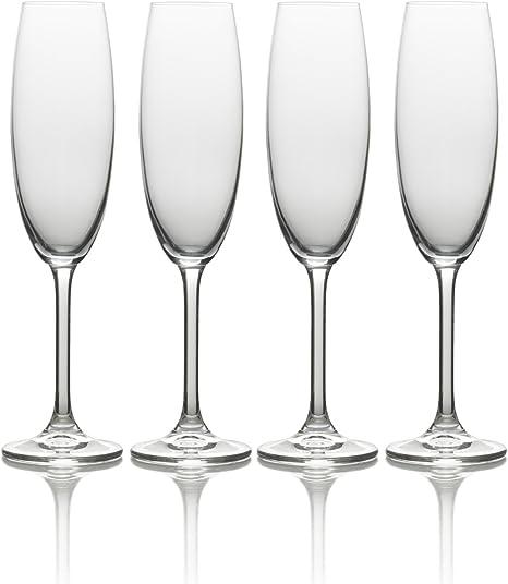 Amazon Com Mikasa Julie Champagne Flute 8 Ounce Set Of 4 Highball Glasses