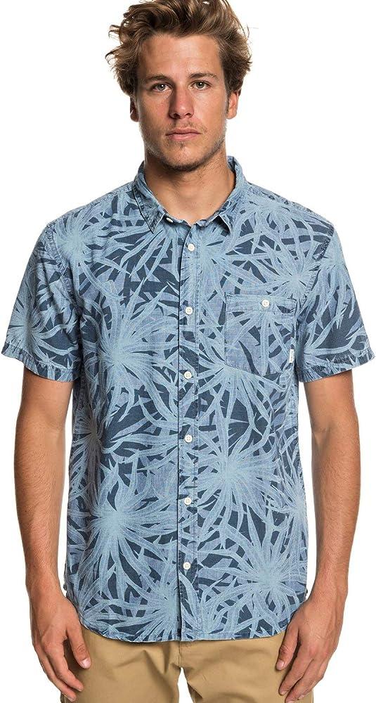 Quiksilver - Camisa de Manga Corta - Hombre - S - Azul: Amazon.es: Ropa y accesorios