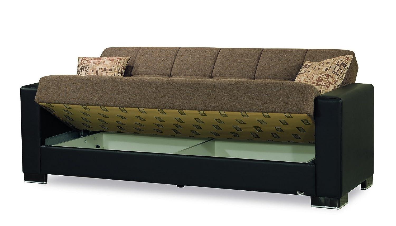 Amazon.com: Casamode Armada Sofa Brown/Brown Chenille ...