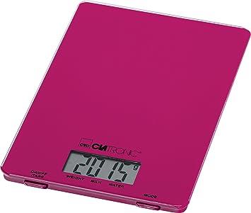 Clatronic KW 3626 Báscula de Cocina Digital, 5 kg Pasos 1 g, función Tara, Morado: Clatronic: Amazon.es: Hogar