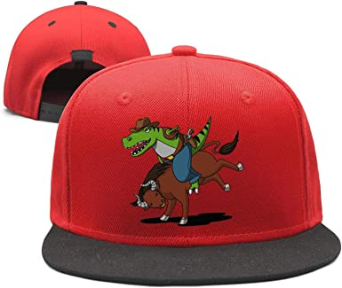 Baseball Cap Panda Riding a T-Rex Snapbacks Truker Hats Unisex Adjustable Fashion Cap