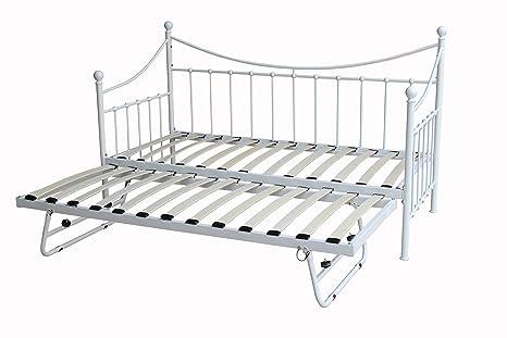 Nuevo DuraTribe Metal forma de formar un colchón para invitados con marco de bajo-cama nido y espuma ortopédico 2 ...