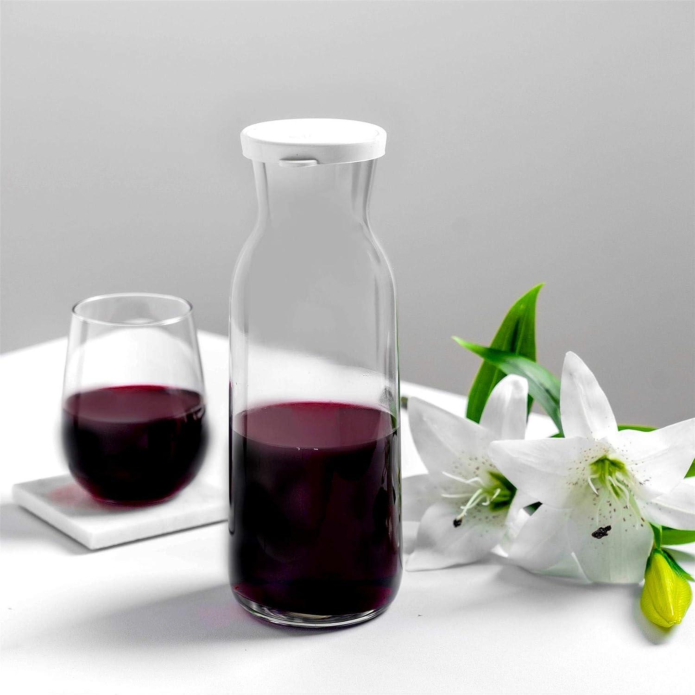 Decanter Caraffa per Acqua Argon Tableware Brocca di Vetro Acqua Caraffa con Coperchio Vino 1.2L Iced Tea