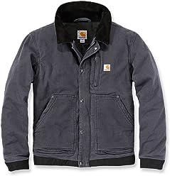 6c1cbfc902f Jacke für Herren aus Stoff Modell Carhartt 102358 Sandstone Caldwell Full  Swing Grau Jacket Grey Gr