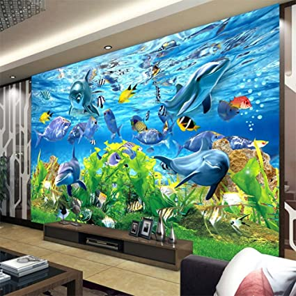 Colomac Wall Mural 3d Sea World Fish Mural Suitable For