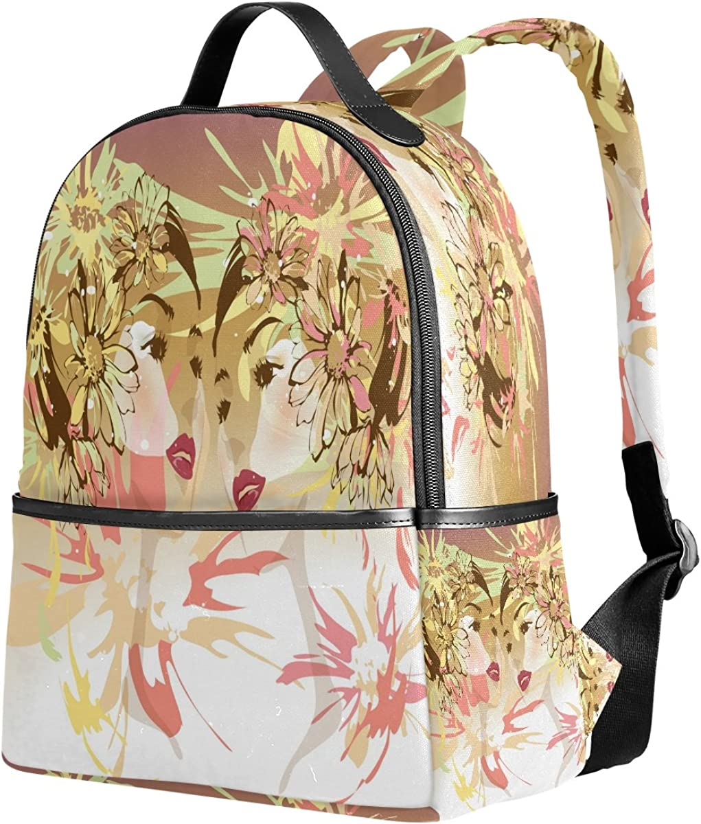 Mr.Weng Daisy Girl Printed Canvas Backpack For Girl and Children