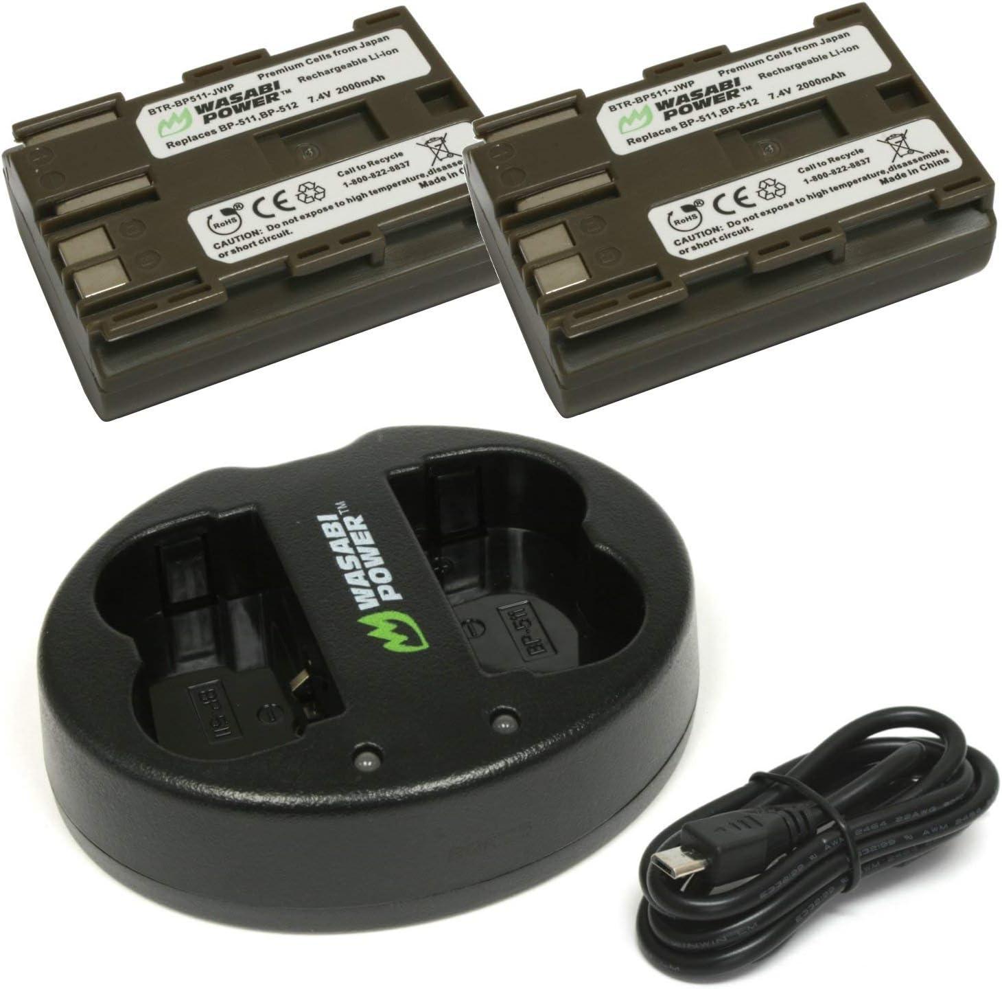 BP-511 BP511A Dual USB Cargador De Batería Para Canon EOS 40D 300D 5D 20D 30D 50D Cam