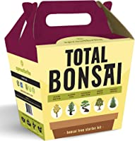 Sproutbrite Bonsai Tree Starter Kit - The 5 Easiest Trees to Grow from Seed Indoors - Complete Gardening Set with...