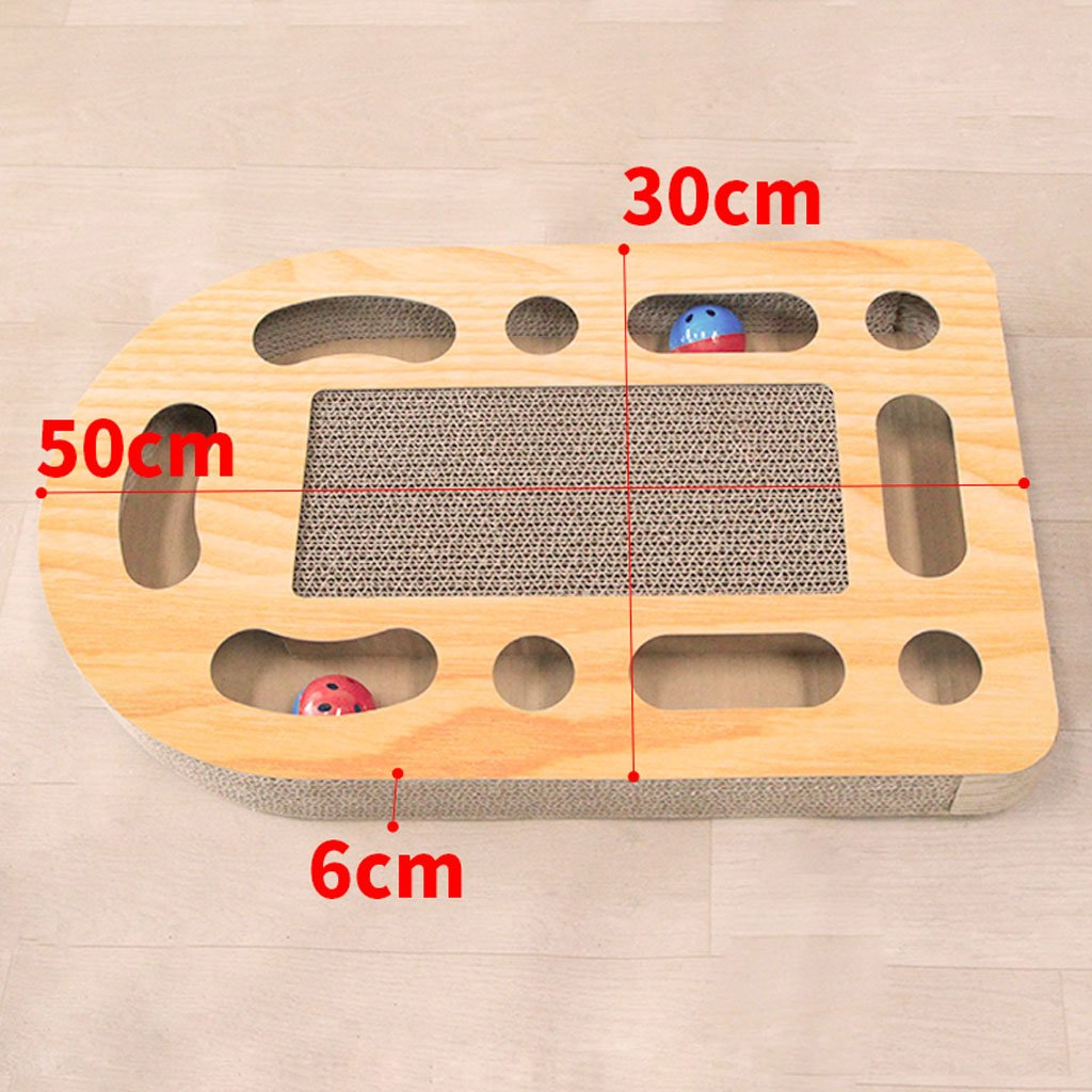 B Cat toy soft corrugated paper cat scratch board cat grinding claws cat toy ball disk pet cat toy (color   B)