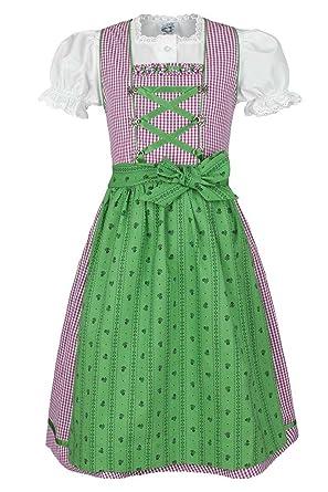Isar-Trachten Isar-Trachten Mädchen Kinderdirndl Beere grün mit ... 95ca464f19