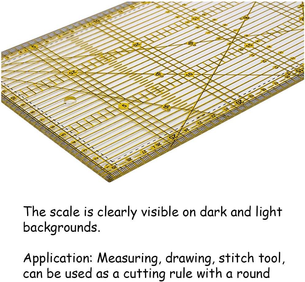 Quilten CUTOOP Acryl-Lineal f/ür Patchwork einfache DIY-Vorlage 15x30cm rechteckig