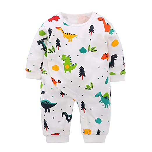 aec0489d6 Amazon.com  Younger Tree Newborn Toddler Baby Boys Girls Dinosaurs ...