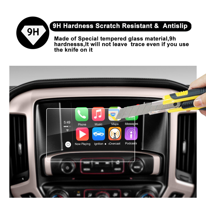 8-Inch RUIYA 2015 2016 2017 2018 2019 GMC Sierra 1500//2500HD 3500HD INTELLILINK 8-Inch Car Navigation,GMC Infotaintment System HD Clear TEMPERED GLASS Screen Protective Film 4332955530