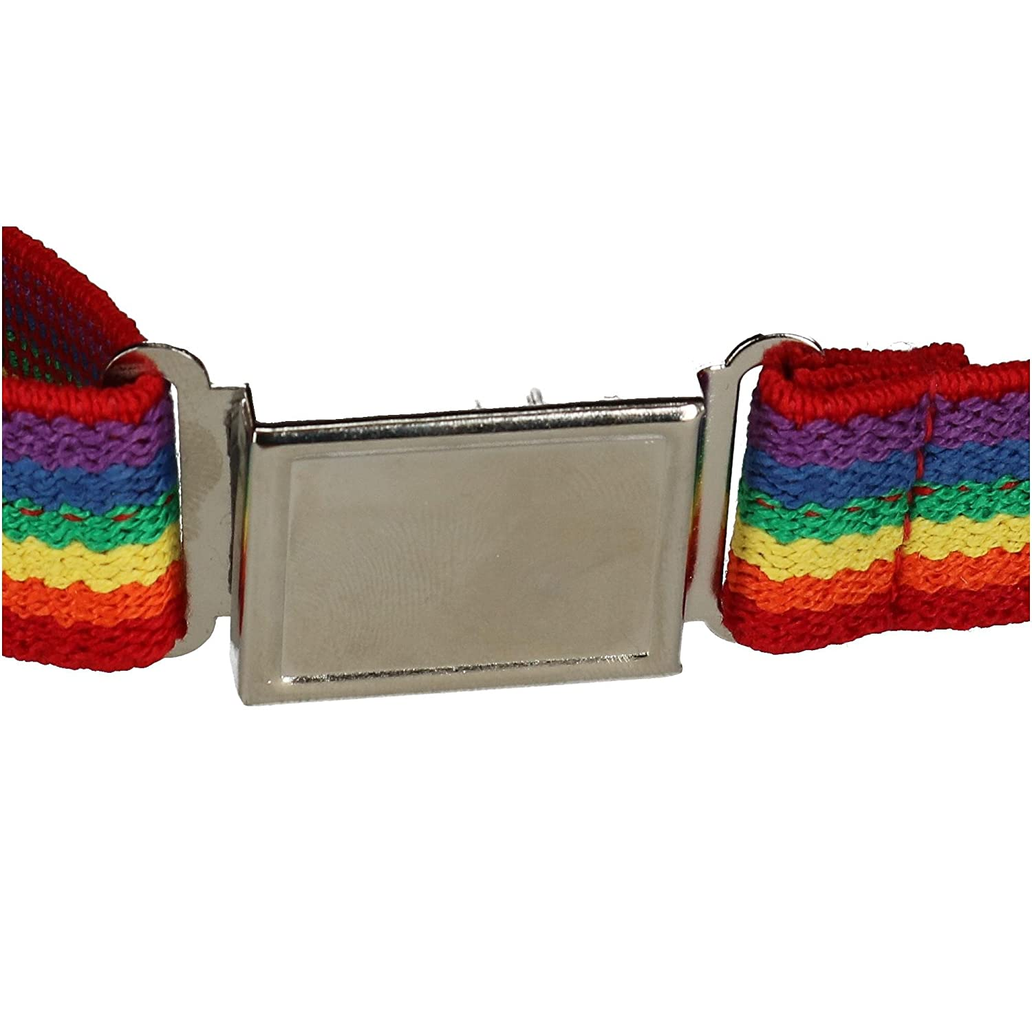 CTM Kids Elastic Rainbow Adjustable Belt with Magnetic Buckle JK-319RAIN-MUL