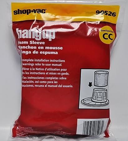 Shop Vac Hangup Foam Sleeve Type CC Filter 90526