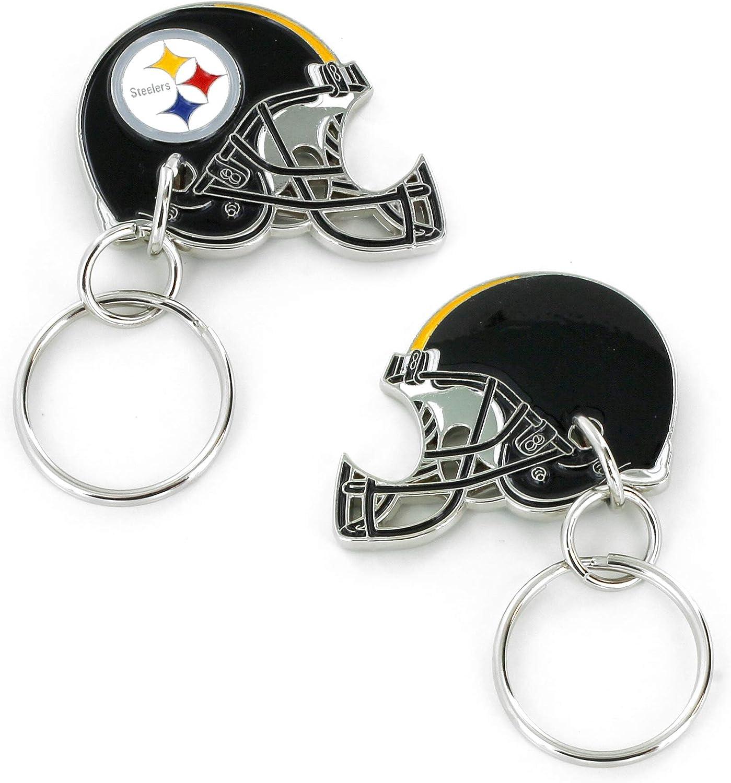 Aminco NFL Unisex-Adult 2-Sided Helmet Bottle Opener Keychain