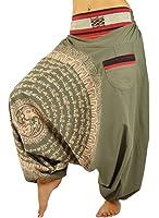 pantalones bombachos para hombre y mujeres entrepierna caída con Mandala dibujados a mano como ropa hippie y pantalones cagados de virblatt S- L - Nirvana