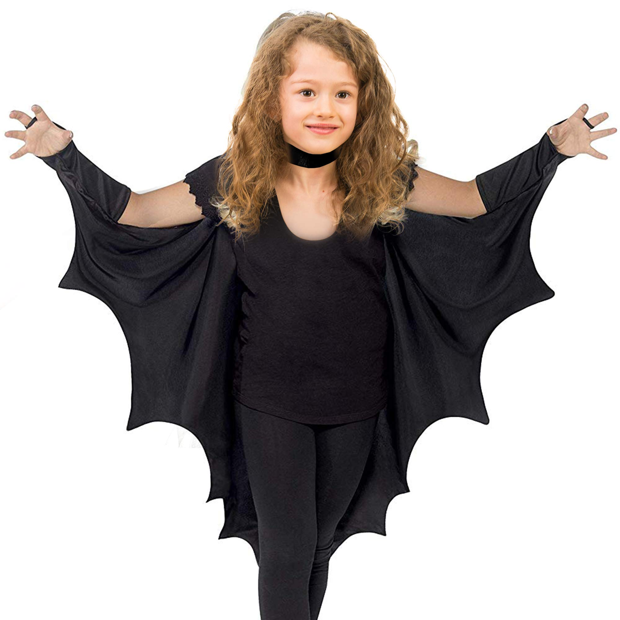 Skeleteen Bat Wings Costume Accessory - Black Wing Set Dress Up Accessories for Dragon, Vampire or Bat Costumes by Skeleteen