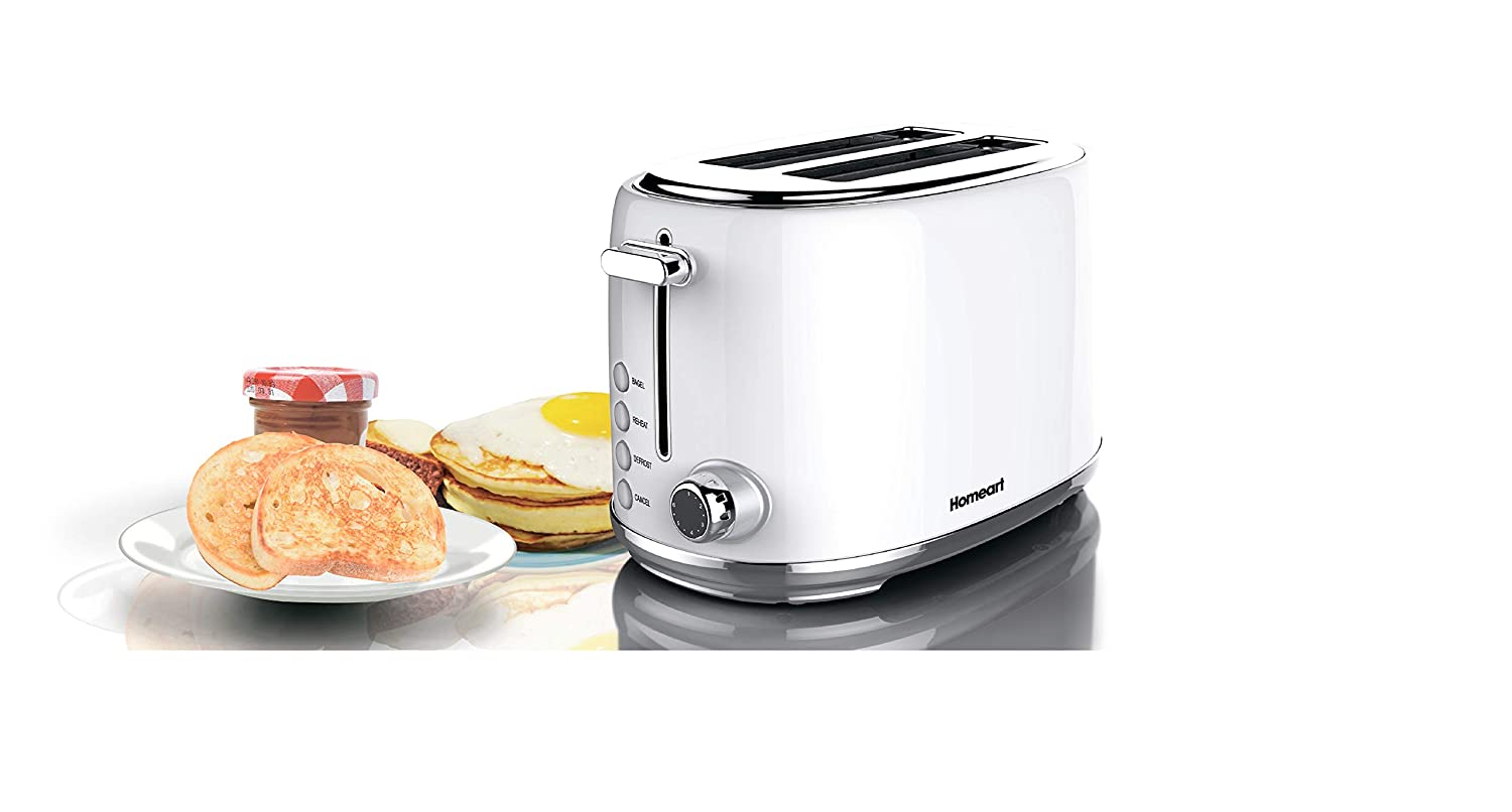 Vintage Toaster Stainless Steel Artisan 4 Slot Toaster by Homeart Black 2019 Electric Toaster with Multi-Function Toaster Options