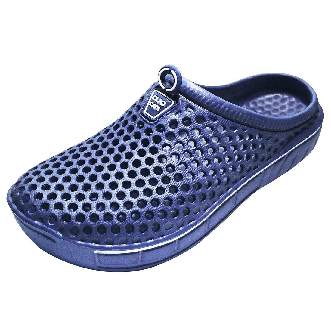 IVAO Unisex Garden Clog Shoes Sandal Quick Drying Navy 9 B(M) US Women/8 D(M) US Men by IVAO