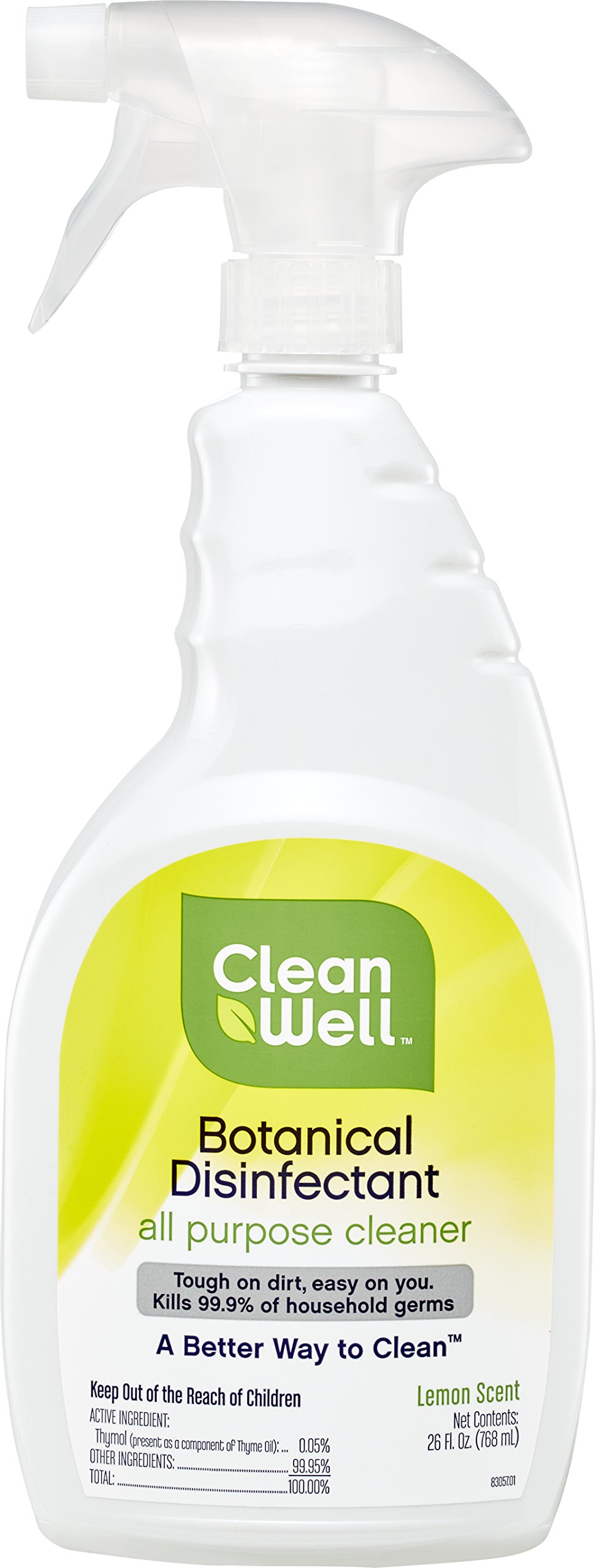 Cleanwell botanical disinfecting wipes lemon scent 35 count health personal care for Cleanwell botanical disinfectant bathroom cleaner