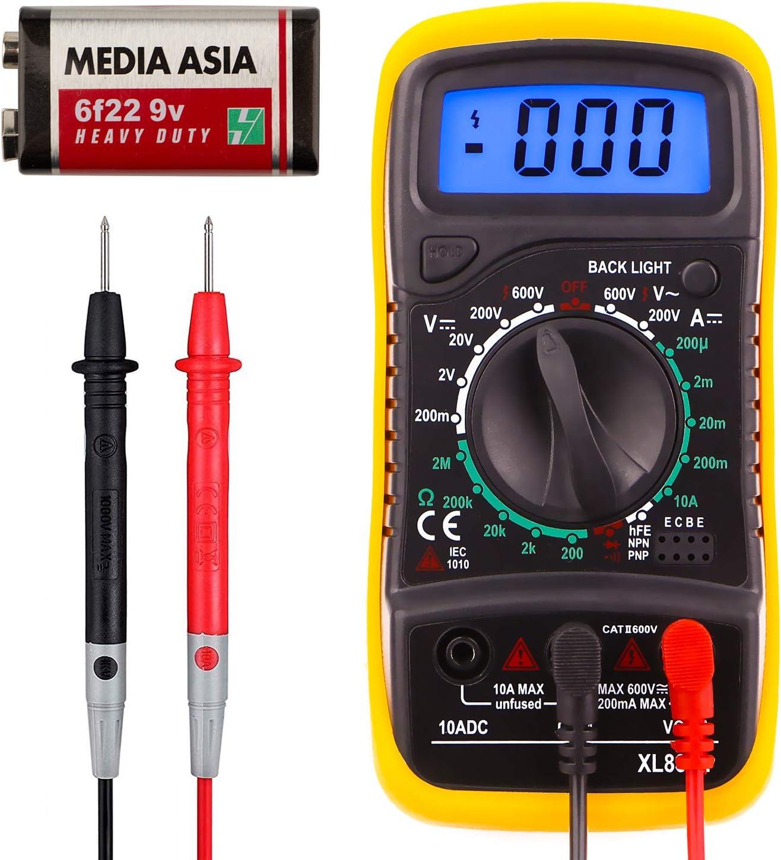 Xl830l Pocket Digital Multimeter Mini Spannungsprüfer Home Messwerkzeuge Multi Tester Test Dc Strom Widerstand Durchgang Frequenz Hintergrundbeleuchtung Lcd Display Mit Batterie Beleuchtung