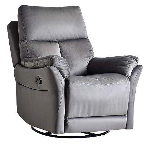 Amazon.com: Silla reclinable de tela, sofá único moderno ...