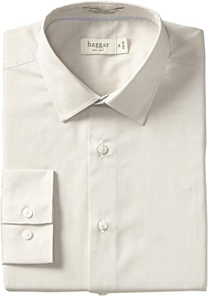 Haggar Camisa de Vestir de Manga Larga para Hombre ...